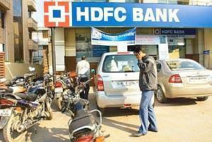 Growth story: An HDFC Bank branch in New Delhi. The bank's net interest income rose 75% to Rs1,725 crore on average asset growth of 68%. Photograph: Madhu Kapparath / Mint
