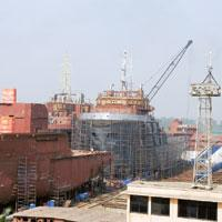 Flowing in: The ABG shipyard in Surat, Gujarat. With capacities in traditional shipbuilding countries such as Japan, South Korea and Norway booked for the next few years, global fleet owners are now l