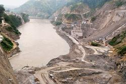 Making room: The site of the Lower Subansiri hydel project, on the Assam-Arunachal Pradesh border. (Photo: Indranil Bhoumik / Mint)