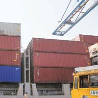 Rising traffic: Jawaharlal Nehru Port in Mumbai. Indian ports are expected to handle about 12 million containers by 2012