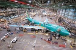 In the wings: A Boeing 747-400 freighter plane at the final stage of assembly in Seattle, US. Aryan Cargo Express, which plans to start global cargo operations by October, has secured permission from