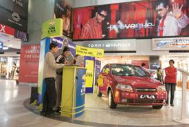 Model growth: A file photo of the Chevrolet Aveo at a Gurgaon mall. Photograph: Madhu Kapparath / Mint