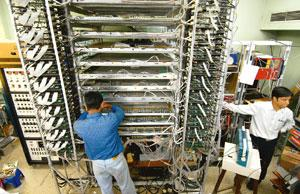 Detector blues? Scientists assemble a prototype of the neutrino observatory (INO) at the Tata Institute of Fundamental Research in Mumbai. INO may be the biggest and costliest basic science project in