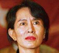 Face of the struggle: A file photo of Aung San Suu Kyi. The pro-democracy leader has been under house arrest for 12 of the past 18 years. (AFP)