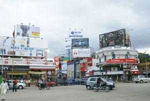 Removing clutter: Bangalore's move to pull down billboards without valid permits came after opposition members in the legislature complained of revenue loss and visual pollution due to unregulated hoa