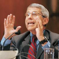 Giving hope: Anthony Fauci, director of the National Institute of Allergy and Infectious Disease in Bethesda, says a vaccine targeted at people with a specific genetic make-up may also be possible in