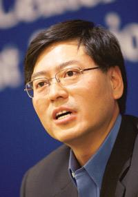 Key driver: Chairman of Lenovo Group Yang Yuanqing. Photograph: Nelson Ching / Bloomberg
