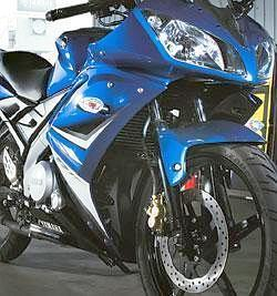 Driving sales: Yamaha's 150cc sports bike YZF R15. The bike, launched in mid-June, helped the company sell 11,798 motorcycles in July