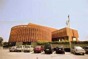 Big players: The TCS office building in Noida. TCS, Infosys and Wipro are the top-ranked Indian technology vendors by revenue. Photograph: Harikrishna Katragadda / Mint