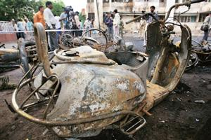 Tragedy: A blast site in Gujarat. Photograph: Amit Dave / Reuters