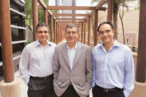 Profitable investments: (from left) Nexus India Capital's three-member team of Sandeep Singhal, Naren Gupta and Suvir Sujan. Photograph: Abhijit Bhatlekar / Mint
