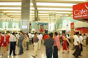 Terminal trouble: A file photo of the new Bengaluru International Airport. The civil aviation ministry has asked Bial, the operator of the new airport, to reinforce arrangements to handle peak-hour tr