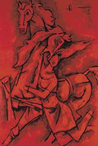 Untitled work by M.F. Husain