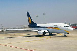 Spreading wings: Jet Airways started flying to Muscat and Abu Dhabi this year after the government opened the route to private carriers. Photograph: Hemant Mishra / Mint