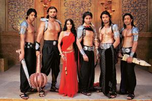 Dress circle: The Pandavs and Draupadi in costumes by Manish Malhotra.