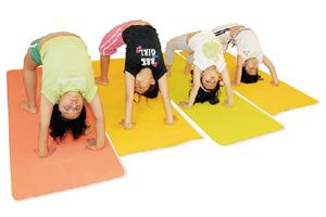 Tailor-made: At the Yoga Bunnies class in Yoga Sutra, children learn asanas the fun way. Photograph: Ashesh Shah / Mint