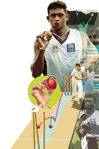 Deception: Mendis' magic deliveries include one that looks like an off-spinner but spins to leg. Photoimaging: Malay Karmakar / Mint