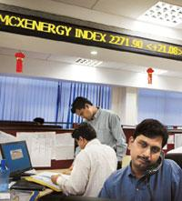 Renewed focus: Traders at MCX in Mumbai. Statistics show that volumes in commodities markets have been rising since February. Photograph: Amit Bhargava / Bloomberg