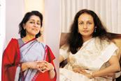 Power 'pallu': Naina Lal Kidwai, group GM and country head, HSBC (left), and Renuka Ramnath, CEO and MD, ICICI Venture, regularly wear saris to work. Photographs: Hemant Mishra and Kedar Bhat