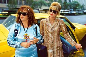 Party girls: BBC's Absolutely Fabulous is about two middle-aged hipsters.