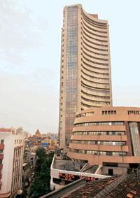 Turbulent times: The Bombay Stock Exchange building. Overseas investors have pulled out $6.94 bn from Indian stocks so far this year. Madhu Kapparath / Mint