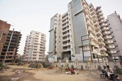 Unregulated sector: A file photo of Indirapuram in Ghaziabad, bordering New Delhi. In late 2007, sales of houses in the Capital's suburbs fell by 40-50% due to a hike in home loan rates amid rising in