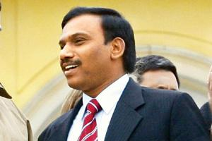 Decision maker: Union communications and IT minister A. Raja. Michael Urban / AFP