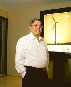 Creating value: Tulsi R. Tanti, chairman and managing director of Suzlon Energy, says component knowledge and technology can lead to a fully vertically integrated company.  Ashesh Shah / Mint