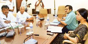 First round: Members of the committee to assess land availability at their first meeting in Kolkata on Tuesday. The committee has a week to submit its report to the West Bengal government. Ashok Bhaum