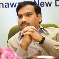 Expansion move: Union communications and IT minister A. Raja. Vijay Kumar Joshi / PTI