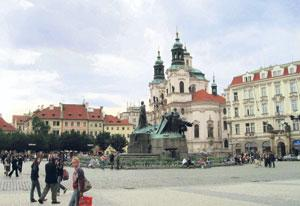 History's cradle: Dating back to the 12th century, the Old Town Square started life as the central marketplace for Prague. Govind Dhar