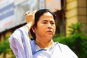 Hard stance: Trinamool Congress chief Mamata Banerjee says her party wouldn't settle for anything less than a return of 300 acres. Indranil Bhoumik / Mint