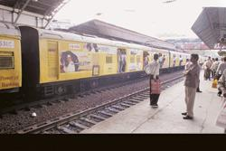 In vain: Idea Cellular tried to attract potential customers in Mumbai by painting its ads on local trains. Ashesh Shah / Mint