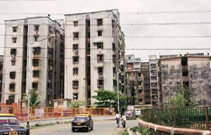 Floor space: A Mhada colony. The flats being built by the authority in Sion and Vikhroli will be priced at Rs2,000-2,200 a sq. ft. Anand Shinde/HT