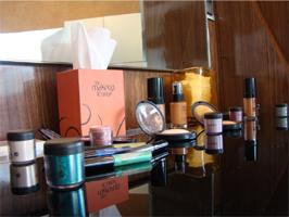 An assortment of make-up products at The Makeup Lounge.