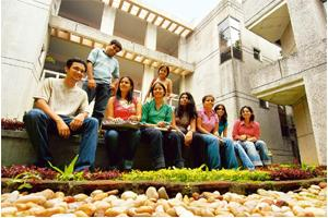 Fun time: Students take a break from classes at the XLRI Learning Center in Jamshedpur. Indranil Bhoumik / Mint