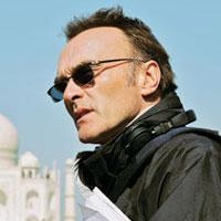 Action: Director Danny Boyle on location in India. Ishika Mohan