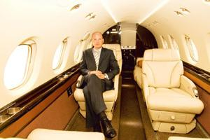 Flight plan: Chief executive Baier says the company plans to have 21 aircraft by the end of 2009. Ramesh Pathania / Mint