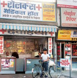 Revision time: A chemist's shop in Ghaziabad, UP. NPPA has revised prices of six bulk drugs, including those for the treatment of diabetes. Rajeev Dabral / Mint