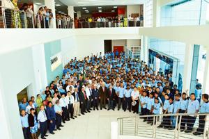 Seamless integration: Employees from different countries and cultural backgrounds at Tamco Switchgear in Malaysia, which has been acquired by Larsen and Toubro, work together to achieve common busines