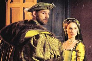 Courting the king: Eric Bana is a tall and big Henry VIII in The Other Boleyn Girl. AFP