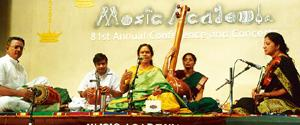 Centre stage: A Madras Music Academy concert held in 2007. V. Ganesan / The Hindu