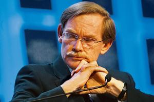 Grim scenario: A file photo of Robert Zoellick at the World Economic Forum in Davos in January. Daniel Acker / Bloomberg