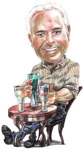 A case for beer: Gidwani says beer, unlike wine, is a no-fuss, relaxing drink. Illustration: Jayachandran / Mint