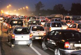Jammed: Delhi has 48 kinds of vehicles on its roads. Praveen Kumar / HindustanTimes