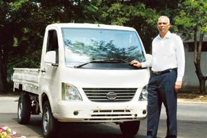 New model: P.M. Telang of Tata Motors said that the entire idea behind the Ace was to address the demand being met by three-wheelers.