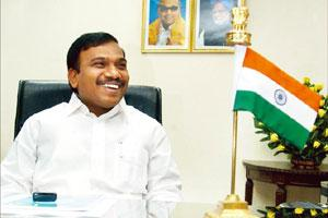 New pact: Telecom minister A. Raja says he has been informally told the realtor has entered into a term sheet with a company. Arvind Yadav / Hindustan Times