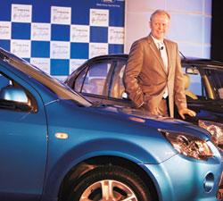 Upbeat on India:Michael Boneham, managing director of Ford India Pvt. Ltd, said he saw 2010 as the year for a significant turnaround in confidence and pent-up demand. Manan Vatsyayana / AFP