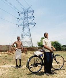 Pending notification: Power lines at Gahigad village in Uttar Pradesh, the state with one of the largest rural power programmes in the country. The Centre cannot disburse funds under the Rajiv Gandhi