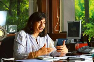 Falling down: Biocon's Kiran Mazumdar-Shaw.?The firm was forced to make a mark-to-market provision of Rs60 crore this quarter. Hemant Mishra / Mint